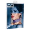 ZADO - strasszos, bőr nyakörv (lila)