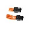 Bitfénix BitFenix 6-Pin PCIe hosszabbító 45cm - narancssárga / fekete
