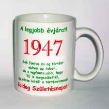 Évszámos bögre 68, 1947. ajándéktárgy