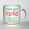 Évszámos bögre 50, 1965.