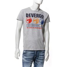 DEVERGO T-SHIRT Férfi póló szürke