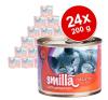 Smilla szárnyastál gazdaságos csomag 24 x 200 g - Vegyes próbacsomag: Smilla szárnyastál macskaeledel