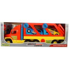 Wader Szuper autószállító kamion - 76 cm-es autópálya és játékautó