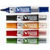 Táblafilc készlet, 2,3 mm, kúpos, tartóval és szivaccsal, PILOT V‐Board Master 5 különböző szín/készlet (WBMA‐VBM‐S5)
