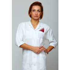 Csillagdivat Köpeny egyenes vonalú, japán orvosi 3/4-es ujjú  (Női munkaruházat fehér)