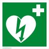 Defibrillatorok.hu - Magyarország Defibrillátor jelző 15x15 matrica