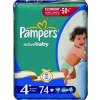 Pampers Active Baby-Dry, Maxi+ 9-16 kg, 74 db-os