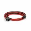 PHANTEKS 6-Pin PCIe hosszabbító 50cm - harisnyázott Fekete / Piros