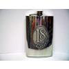 Óncímkés fém flaska, lapos üveg Évszámos 18, 30, 40 (30-as)