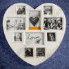 Antique Heart Vintage Fényképkeret (10 fényképhez)