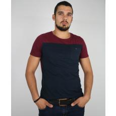M méret H & M férfi póló- kétszínű, zsebes