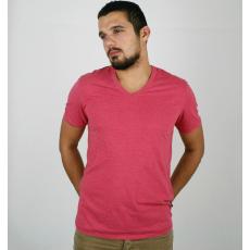 L méret Egyszínű v nyakú férfi póló
