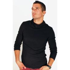 S méret Hoodie fekete férfi pulóver
