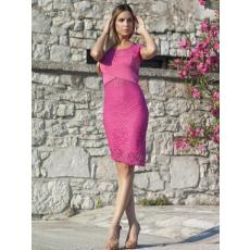 Meringue fashion AKCIÓ pink csipkés ruha
