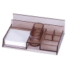 Dual Desk organiser  multi-purpose  with a note cube  smoky 5903573090629