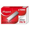 MAPED Tűzőkapocs, 26/6, MAPED (1000db/doboz)