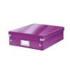 Leitz Tárolódoboz, rendszerező, laminált karton, M méret, LEITZ Click&Store, lila