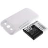 Powery Utángyártott akku Samsung Galaxy SIII fehér 3300mAh