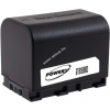Powery Utángyártott akku videokamera JVC GZ-HM445AC 3,6V 2670mAh Li-Ion fekete (info chip-es)