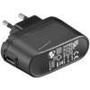 Powery Goobay USB hálózati adapter töltő USB fekete 1A