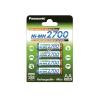 Sanyo Panasonic Mignonakku típus AA / típus BK-3HGAE/4BE sorozat: 2700 (NiMH) 4db/csom