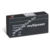 Multipower Ólom akku 8V 3Ah (Multipower) típus MP3-8