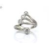 Brill köves fehérarany gyűrű