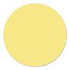 Kör moderációs kártya, 14 cm, sárga