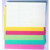 Címke papír, citromsárga, 20x60 mm