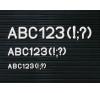 Karakterkészlet információs táblához, fél doboz, 30 mm információs tábla, állvány