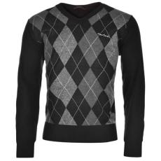 Pierre Cardin Argyle kötött férfi pulóver
