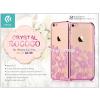 Devia Apple iPhone 6/6S hátlap Swarovski kristály díszitéssel - Devia Crystal Rococo - rose pink