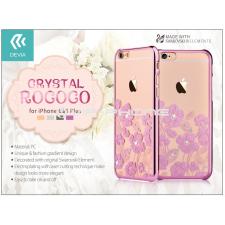Devia Apple iPhone 6/6S hátlap Swarovski kristály díszitéssel - Devia Crystal Rococo - rose pink tok és táska
