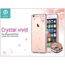 Devia Apple iPhone 6/6S hátlap Swarovski kristály díszitéssel - Devia Crystal Vivid - champagne gold tok és táska