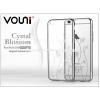 Vouni Apple iPhone 6/6S hátlap kristály díszitéssel - Vouni Crystal Blossom - silver