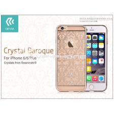 Devia Apple iPhone 6/6S hátlap Swarovski kristály díszitéssel - Devia Crystal Baroque - champagne gold tok és táska