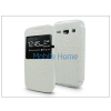 Haffner Samsung G3500 Galaxy Core Plus S-View Flexi oldalra nyíló flipes tok - fehér
