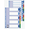 ESSELTE Printable indexes: plastic PP Esselte A4/2x5 colours 5902812152616