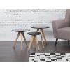 Beliani Dohányzóasztal – Három részes kisasztal – Fekete – VEGAS