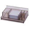 Dual Desk organiser  acrylic  with a note cube  transparent 5907377538318