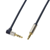 LogiLink Audio Cable 3.5 Stereo M/M 90° angled, 1.00 m, blue