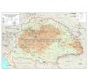 Stiefel A népdalgyűjtés helyei Magyarországon - Kodály és Bartók népdalgyűjtésének helyei térkép
