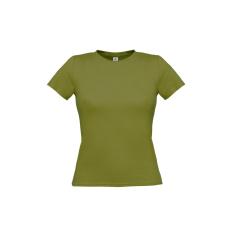 B&C B&C környakas Női póló, green moss
