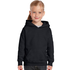 GILDAN Gildan kapucnis gyerekpulóver, fekete