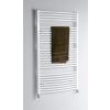 Aqualine fürdőszobai radiátor, 450x970 mm, íves fehér (ILO94)