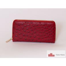 P037 női bordó cipzáros pénztárca