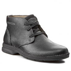 Bokacipő CLARKS - Senner Rise 203569587 Black Leather