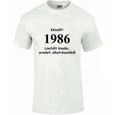 Tréfás póló 30 éves, Készült 1986...   (M)
