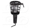 Műanyagkosaras munkalámpa üveg burával műhely lámpa