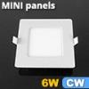Mini négyzet LED panel (120x120 mm) 6 Watt hideg fehér